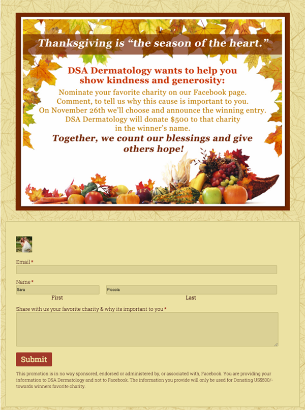 20 thanksgiving campaign ideas including examples and templates. Black Bedroom Furniture Sets. Home Design Ideas